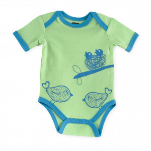 Lot de 2 bodies MC - Oiseaux