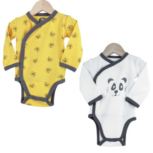 Lot de 2 Bodies croisés Panda