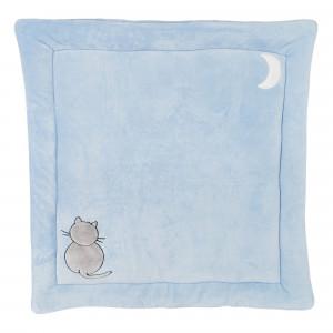 Tappeto di box flanella Blu 100x100 cms