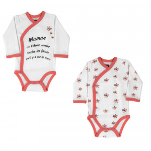 Lot de 2 bodies croisés - Maman